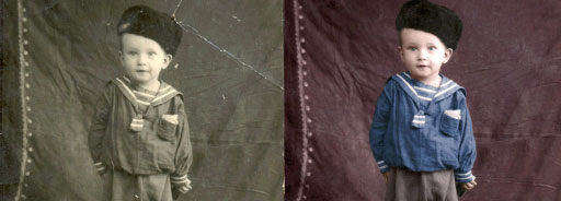 Реставрация фотографии, восстановление старой фотографии Воронеж